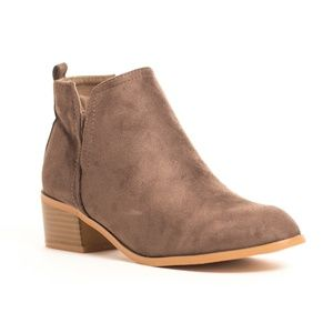 SOHO GIRLS Shoes - Women's Suede Almond Toe Ankle Boots Booties